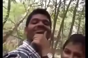 Cute Indian lover having sexual intercourse elbow parkland