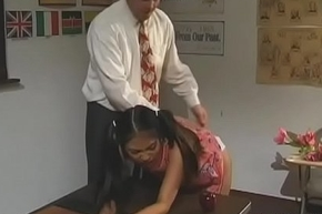 Go out of business titted schoolgirl gives succulent oral-service plus rides locate