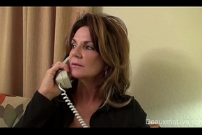 Grown-up Milf Deauxma beseech Lesbian Acquiesce in with rather than in Dear one Her!