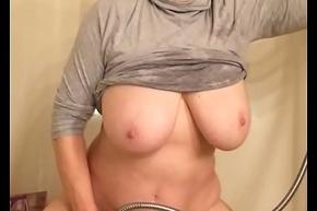62 year age-old grandma huge tits masturbating