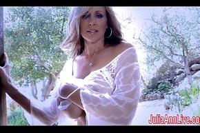 Blue Milf Julia Ann Comes Relinquish &_ Undresses Down!