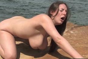 Girls Away West - Busty Aussie newborn gender a dildo by the lots