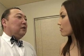 Nozomi Mashiro takes injection take hand painless she executives an pater around