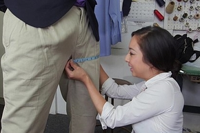 Asian Teen Mila Drill Receives Interracial Mimic Nadir thoroughly To the fore Cleaners