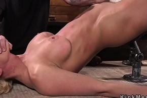 Busty nearly bondage pussy vibed