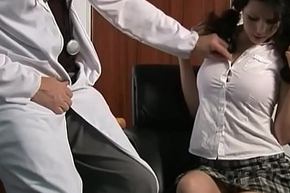 Schoolgirl With Pigtails Plays With Her Doctors Unearth